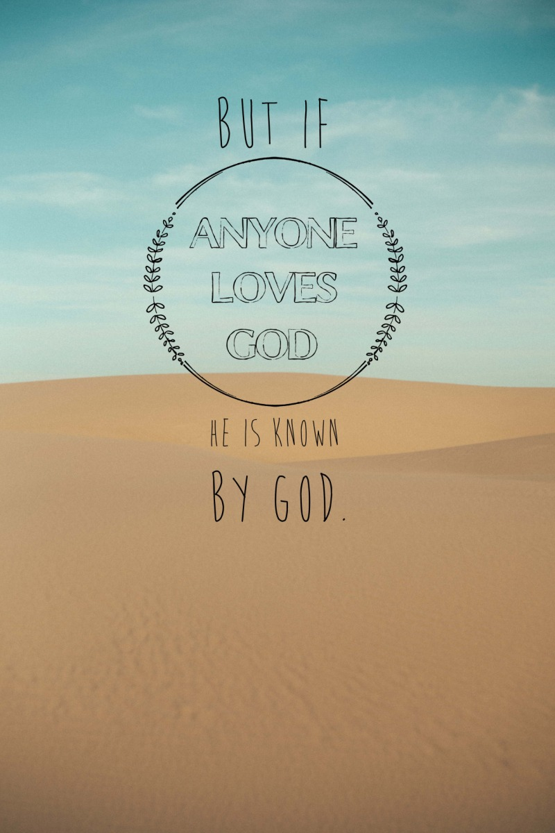 Prayer Corner: Being Known By God