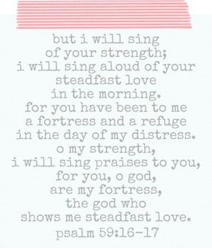 psalm 59-16-17